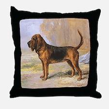 Vintage Bloodhound Throw Pillow