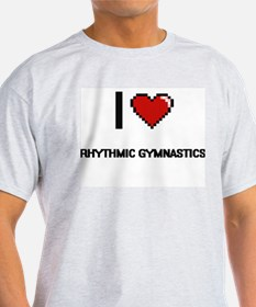 I Love Rhythmic Gymnastics Digital Retro D T-Shirt