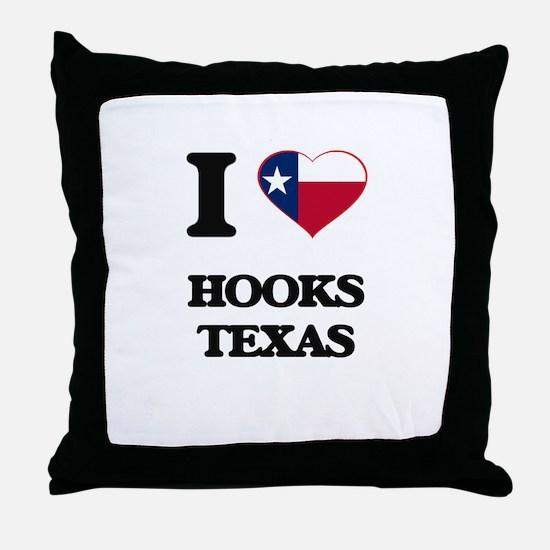 I love Hooks Texas Throw Pillow