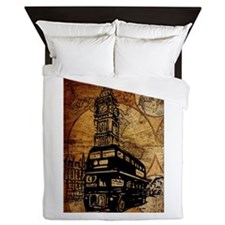 Funny London design Queen Duvet