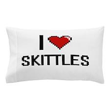 I Love Skittles Digital Retro Design Pillow Case