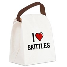 I Love Skittles Digital Retro Des Canvas Lunch Bag