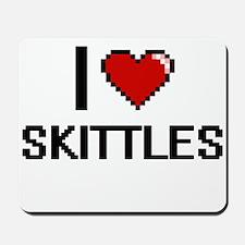I Love Skittles Digital Retro Design Mousepad