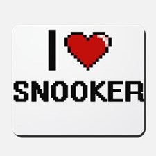 I Love Snooker Digital Retro Design Mousepad