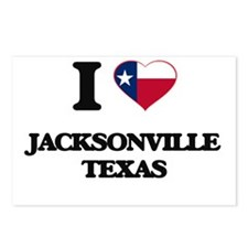 I love Jacksonville Texas Postcards (Package of 8)