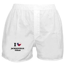 I love Jacksonville Texas Boxer Shorts
