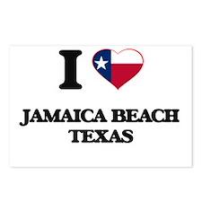 I love Jamaica Beach Texa Postcards (Package of 8)