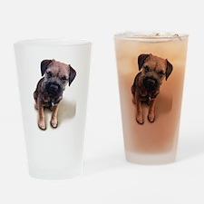 Border Terrier Boy Drinking Glass