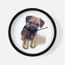 Border Terrier Boy Wall Clock