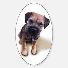 Border Terrier Boy Sticker (Oval)