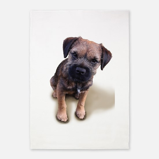 Border Terrier Boy 5'x7'Area Rug