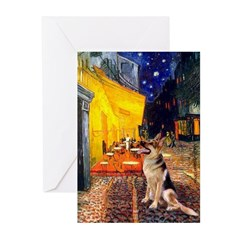Cafe / G-Shephard Greeting Cards (Pk of 10)