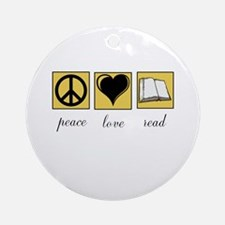 Peace Love Read Ornament (Round)