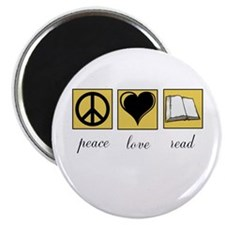 Peace Love Read Magnets