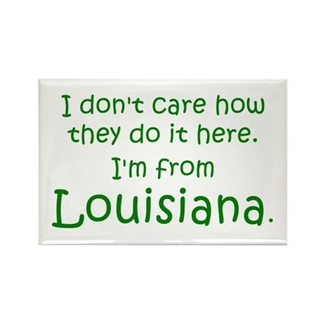 From Louisiana Rectangle Magnet