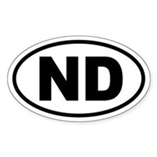 Basic North Dakota Oval Decal