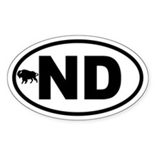 North Dakota Bison Oval Decal