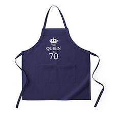 The Queen Is 70 Apron (dark)