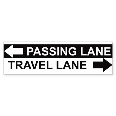 Pass on the left, travel on the right!