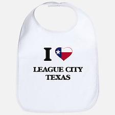 I love League City Texas Bib