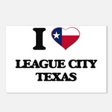 I love League City Texas Postcards (Package of 8)