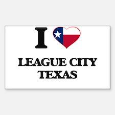 I love League City Texas Decal