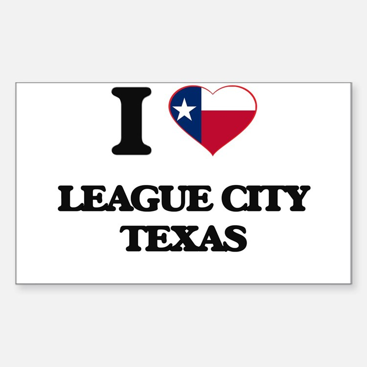 I love League City Texas Decal