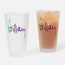 Hillary Rainbow Signature Drinking Glass