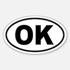 Basic Oklahoma Oval Decal