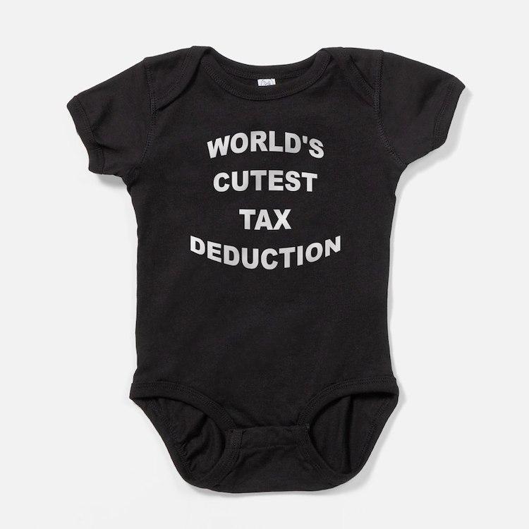 Worlds Cutest Tax Deduction Baby Bodysuit