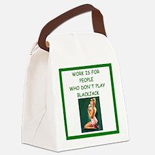 blackjack joke Canvas Lunch Bag