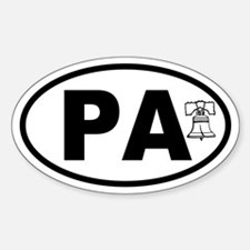 Pennsylvania Liberty Bell Oval Decal