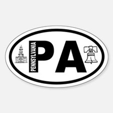 Pennsylvania Hall and Bell Oval Decal