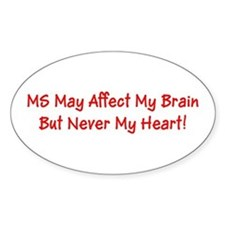 MS Affects My Brain Never My Heart Marge's Decal