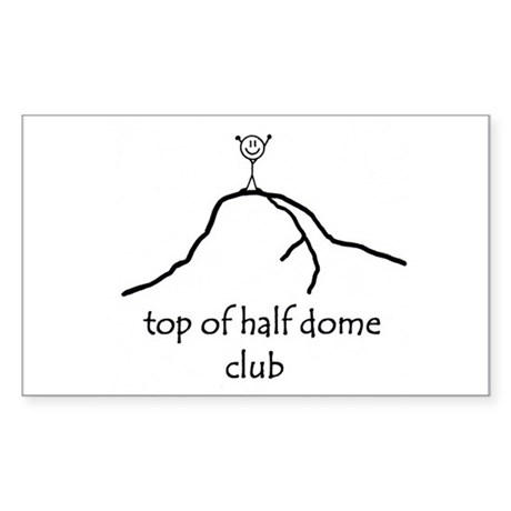 Top Of Half Dome Club Rectangle Sticker