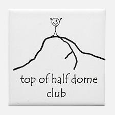 Top Of Half Dome Club Tile Coaster