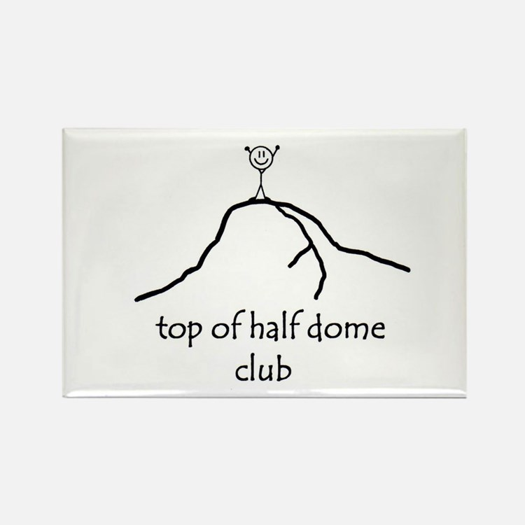 Top Of Half Dome Club Rectangle Magnet