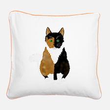 Half 'n Half Square Canvas Pillow