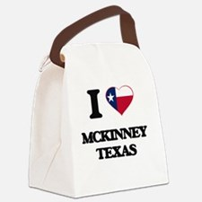 I love Mckinney Texas Canvas Lunch Bag