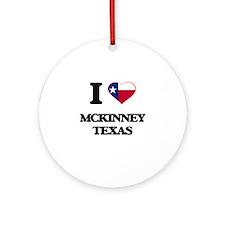 I love Mckinney Texas Ornament (Round)