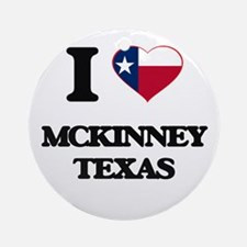 I love Mckinney Texas Ornament (Round)
