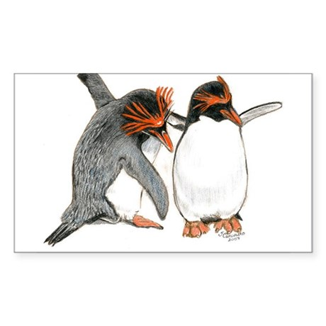 Dance of Love Penguins Rectangle Sticker