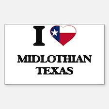 I love Midlothian Texas Decal