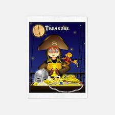 Pirate and Treasure 5'x7'Area Rug