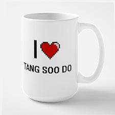 I Love Tang Soo Do Digital Retro Design Mugs