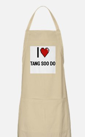 I Love Tang Soo Do Digital Retro Design Apron