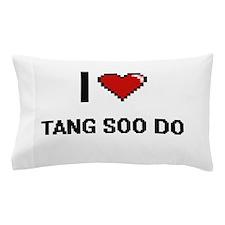 I Love Tang Soo Do Digital Retro Desig Pillow Case