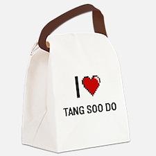 I Love Tang Soo Do Digital Retro Canvas Lunch Bag