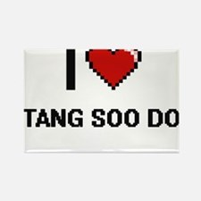 I Love Tang Soo Do Digital Retro Design Magnets