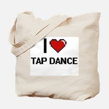 I Love Tap Dance Digital Retro Design Tote Bag